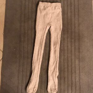 Gymboree Girls Oatmeal Cable Knit Tights 4T 5T